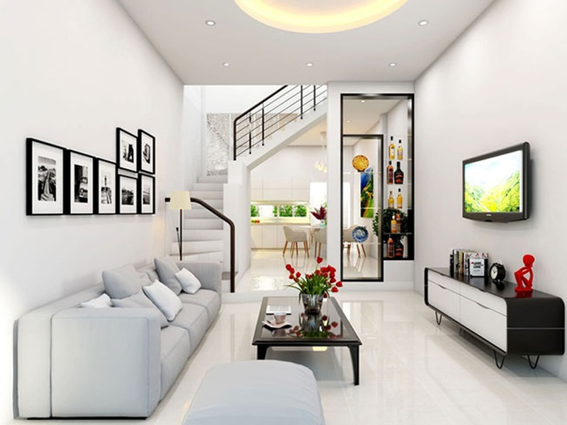 Thiết kế phòng khách nội thất đơn giản